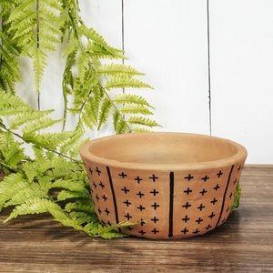 Black Round Clay Pot
